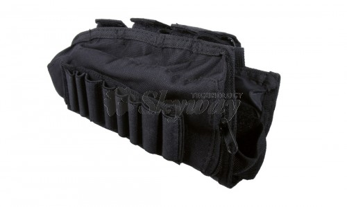 BLACK STOCK SHELL POUCH